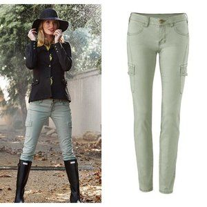 CAbi Celadon Cargo Pants 6 Olive Green #3048